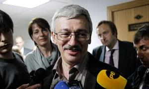 Russian human rights activist Oleg Orlov