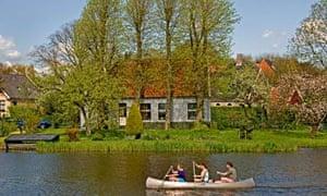 canoeing at Waterland nature reserve, Amsterdam