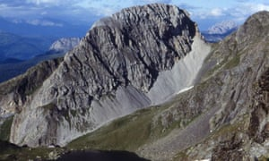 The Rosskopf mountain in eastern Tyrol, Austria