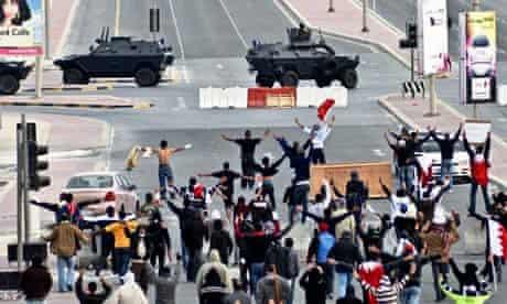 Anti-government protestors in Bahrain