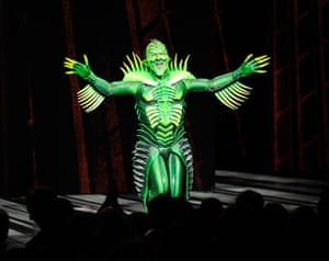 "Spider-Man musical: The Green Goblin at ""Spider-Man Turn Off The Dark"""