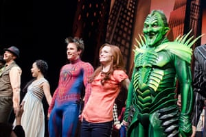 Spider-Man musical: Patrick Page, Jennifer Damiano and Reeve Carney