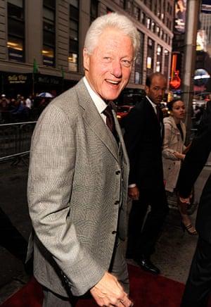 """Spider-Man musical: Bill Clinton attends """"Spider-Man Turn Off The Dark"""""""