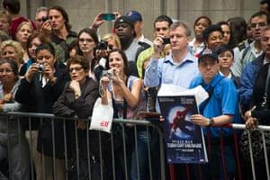 Spider-Man musical: Fans watch the arrivals
