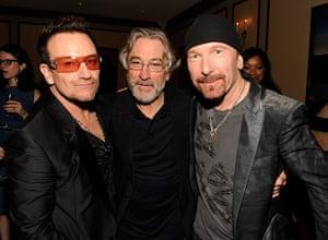 Spider-Man musical: Bono, Robert DeNiro and The Edge backstage