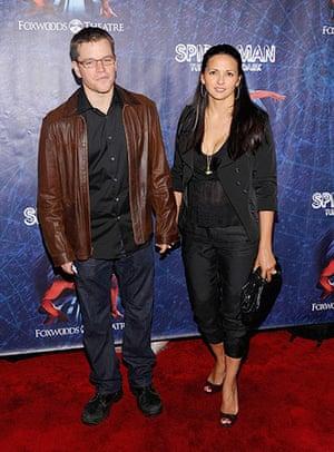 Spider-Man musical: Matt Damon and Luciana Barroso
