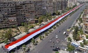 Supporters of President Bashar al-Assad