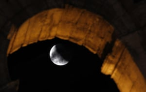 Lunar Eclipse: lunar eclipse, at the ancient Colosseum in Rome