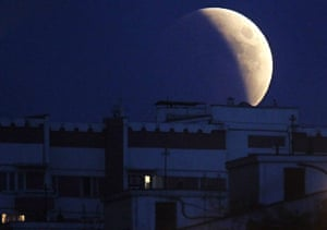 Lunar Eclipse: Lunar eclipse view from Moscow