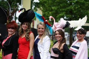 Ascot Ladies Day: Female racegoers with bird themed hats