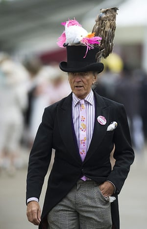 Ascot Ladies Day: Milliner David Shilling attend Ladies Day