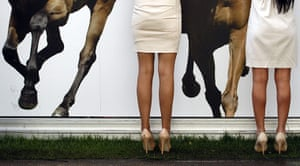 Ascot Ladies Day: Racegoers are seen at the bar