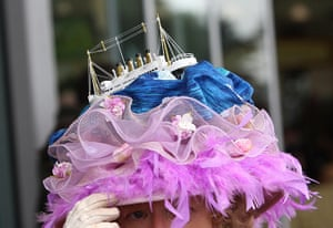 Ascot Ladies Day: Detail of a Titanic themed hat