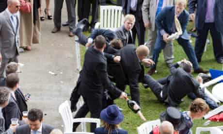 Racegoers at Ladies Day, Royal Ascot, become involved in brawl involving Champagne bottles