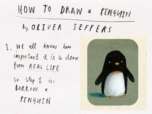 Oliver Jeffers How To Draw Penguins Children S Books The Guardian