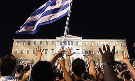 Greece debt crisis: protests