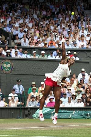 Ladies of Wimbledon: Serena Williams returns in the women's grand final, July 2010