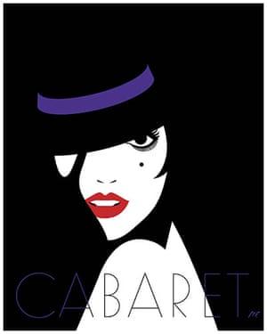 Little White Lies: Cabaret poster by Malika Favre