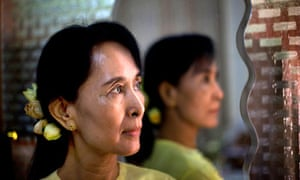 Aung San Suu Kyi after release