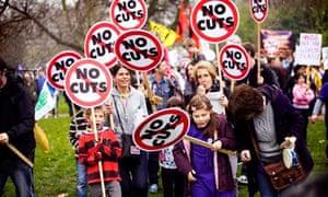 Cuts protesters