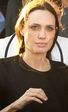 Angelina Jolie in Syrian refugee camp