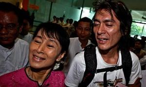 Aung San Suu Kyi with her son Kim Aris