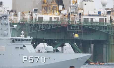 Danish navy commandos remove Greenpeace activists from Arctic drilling rig