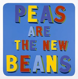 Government Art Collection: Bob and Roberta Smith, 'Peas are the New Beans' 1999, Vinyl paint on panel