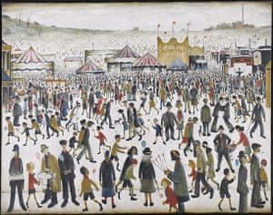 Government Art Collection: L.S. Lowry, 'Lancashire Fair: Good Friday, Daisy Nook' 1946, Oil on canvas