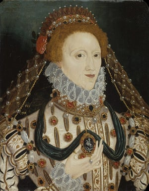 Government Art Collection: Unknown artist, Queen Elizabeth I (1533-1603), Oil on panel