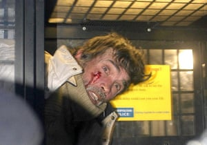 brian haw: Police protester Haw injured in demo arrest