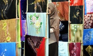 A Malaysian shops for clothes in Kuala Lumpur