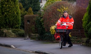 Postman on a bicycle