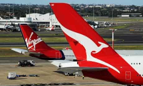 Quantas and Virgin flights cancelled in Australia