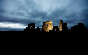 Summer solstice: The stones are illuminated