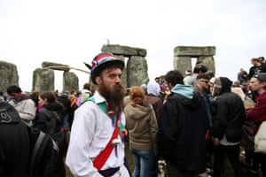Summer solstice: A morris dancer at Stonehenge