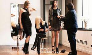 Donatella Versace puts the finishing touches to the H&M range