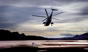 Helicopter over Stornoway