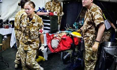 Brtisih army hospital in Afghanistan