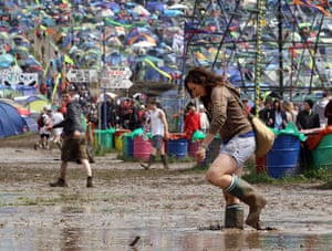 Glastonbury Day 2: Glastonbury puddle