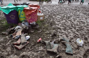 Glastonbury Day 2: discarded wellies
