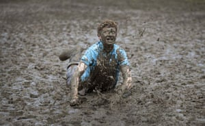 Glastonbury day 2: mud slider