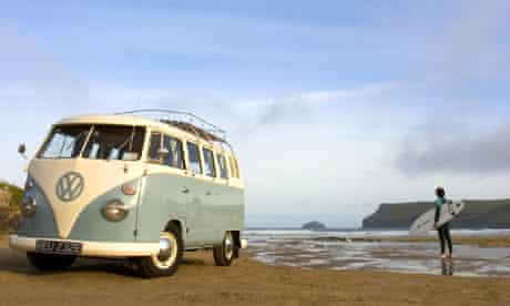 Campers in Cornwall