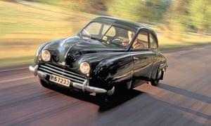A 1950 Saab 92, a design classic.