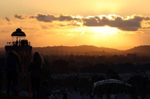 Glastonbury day 2: Sunset