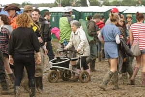 Glastonbury day 2: walking frame