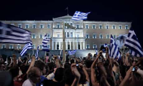 Protests in Syntagma square, Athens, June 2011