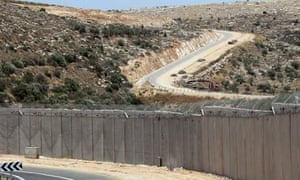 Separation barrier outside Bilin in West Bank