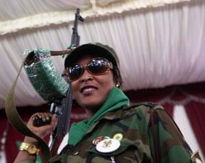Gaddafi's female soldiers: Gaddafi's female soldiers