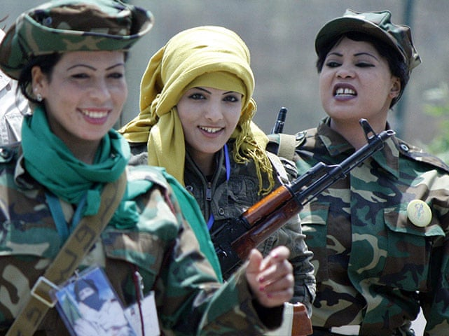 Gaddafi's female soldiers – in pictures   World news   The Guardian